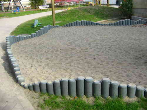 rasenbegrenzung palisaden ohne spitze 8 x 150 cm grau metall obi